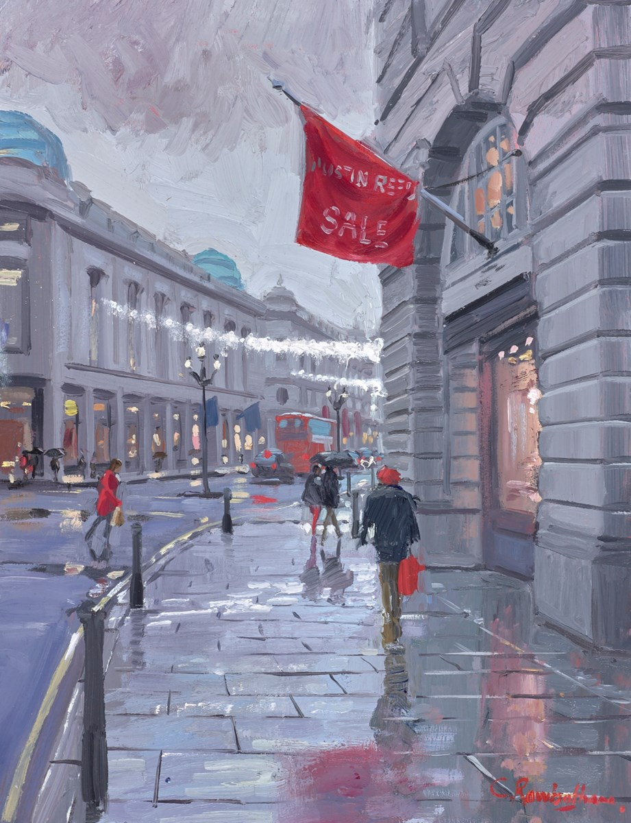 Regent Street Lights by charles rowbotham -  sized 10x13 inches. Available from Whitewall Galleries